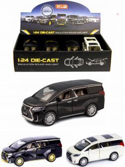 Металлическая машинка XLG 1:24 «Минивэн Lexus LM300h» 20 см. M929М инерционная, свет, звук / Микс