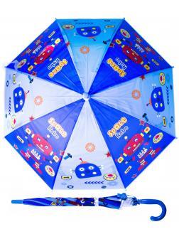 Зонтик детский «Роботы» со свистком, 50 см. 45714 / Синий