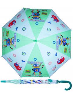 Зонтик детский «Роботы» со свистком, 50 см. 45714 / зеленый