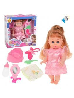 Игр.наб. Мой малыш, в компл. кукла озвуч., пьет, писает, предм. 6шт., эл.пит.AG13*2шт.вх.в компл., кор.