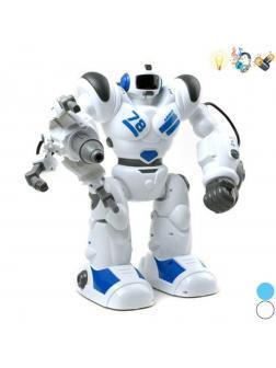 Робот р/у, свет, звук, стреляет, в комплекте: стрела 1шт., аккум., USB шнур, эл.пит.АА*3шт.не вх.в комплект, в ассортименте