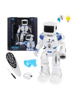 Робот р/у, свет, звук, русс.озвуч., аккум.встроен., USB шнур, эл.пит.ААА*2шт.не вх.в комплект, коробка, в ассортименте