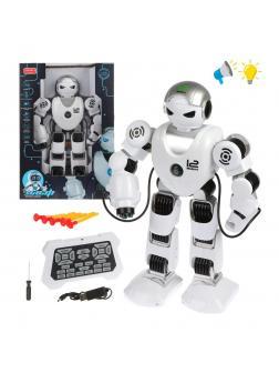 Робот, ИК управление, свет, звук, русс.озвуч., в комплекте: стрелы 5шт., аккум.встроен., USB шнур, эл.пит.АА*2шт.не вх.в комплект, в ассортименте