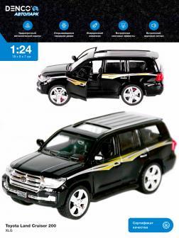 Металлическая машинка XLG 1:24 «Toyota Land Cruiser 200» 18 см. M923V инерционная, свет, звук / Черный