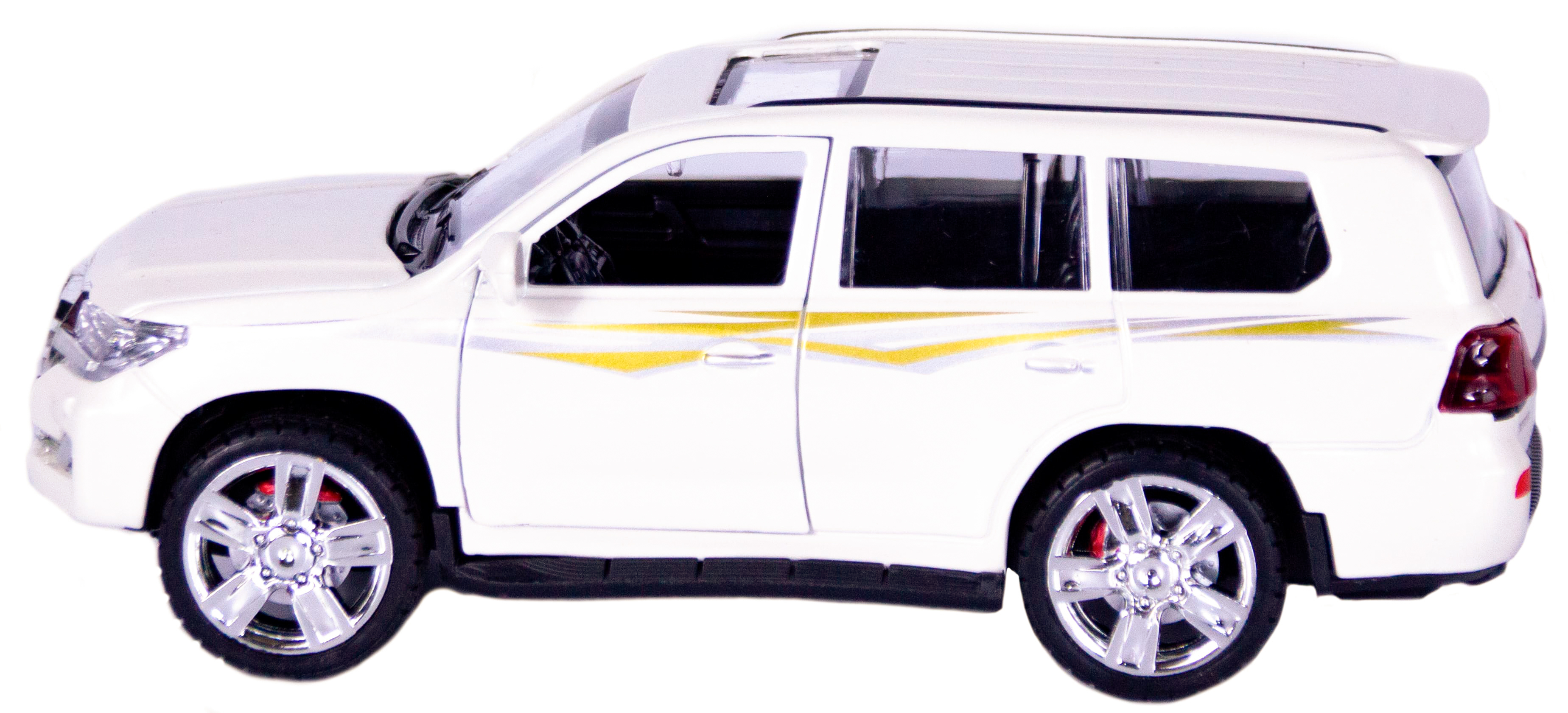 Металлическая машинка XLG 1:24«Toyota Land Cruiser 200» 18 см. M923V инерционная, свет, звук / Белый