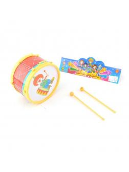 Музыкальная игрушка барабан, 2 палочки, кор.