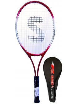 Ракетка Bosaite для большого тенниса в чехле, 11504 / красная