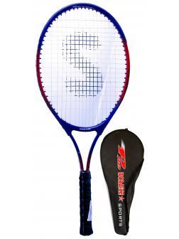Ракетка Bosaite для большого тенниса в чехле, 11504TSK / синяя