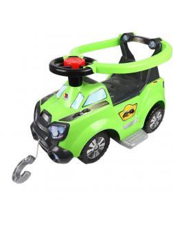 Каталка-автомобиль Sokol с ручкой, с подножкой и ограждением