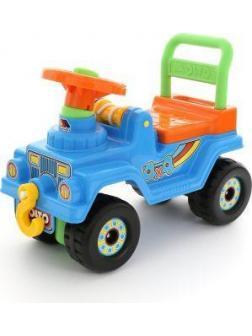 Машина-каталка Джип 4х4 с гудком (голубой)