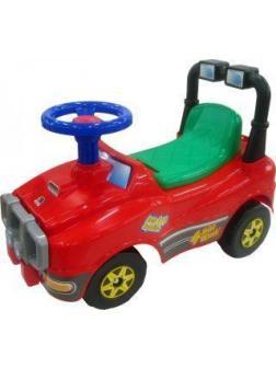 Машина-каталка Джип с гудком (красный)