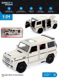 Машинка металлическая XLG 1:24 «Mercedes-Benz G-class Brabus» M929Y-1 20 см. инерционная, свет, звук в коробке / Белый