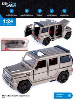 Машинка металлическая XLG 1:24 «Mercedes-Benz G-class Brabus» M929Y-1 20 см. инерционная, свет, звук в коробке / Серый