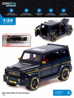 Машинка металлическая XLG 1:24 «Mercedes-Benz G-class Brabus» M929Y-1 20 см. инерционная, свет, звук в коробке / Черный