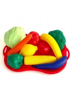 Набор фрукты/овощи №4 с подносом, сетка