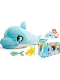 Игрушка интерактивная IMC Toys Club Petz Дельфин BluBlu интерактивный, со звуковыми эффектами, шевелит глазами и ртом, можно его кормить и уложить спа