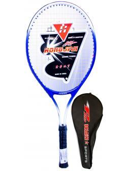 Ракетка Bosaite для большого тенниса в чехле, 11504SB / синий-белый