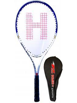 Ракетка Bosaite для большого тенниса в чехле, 11504SZS / синий-белый
