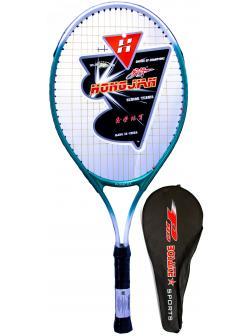 Ракетка Bosaite для большого тенниса в чехле, 11504ZB / зеленый-белый