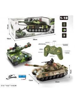 Радиоуправляемый танк 1:18 «МОКА» 2052, свет, звук / Зеленый