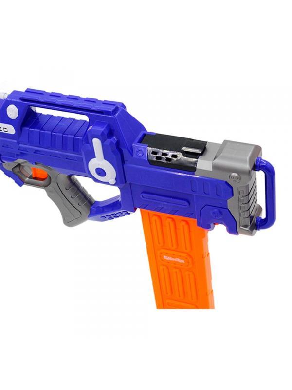 Автомат-бластер с мягкими пулями, работает от батареек / 9923
