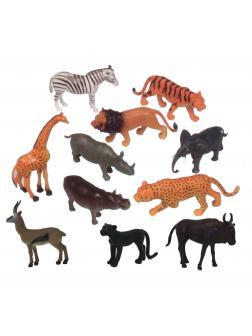 Фигурки животных «Дикие животные» H605 Wild Animals 8-10 см. / 12 шт.