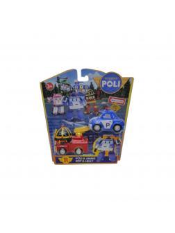 Набор машинок Poli «Робокар» P1, инерционные