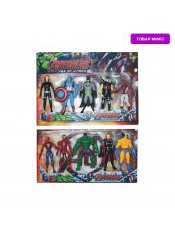 Набор фигурок с аксессуарами «Мстители» 5 шт. 68476C, свет / Микс