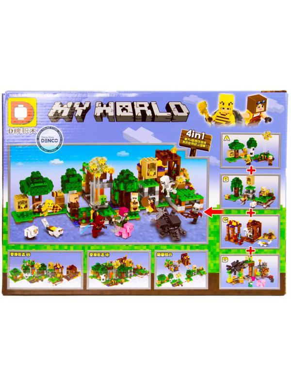 Набор конструкторов «My World» DLP1203 Minecraft / 4 шт.