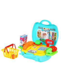 Игровой набор «Supermarket» кассовый аппарат с аксессуарами в чемоданчике 2A206 / 24 предмета