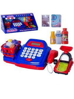 Игровой набор «Касса» с аксессуарами и весами на батарейках 8388D / звук, свет
