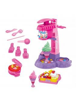 Детский игровой набор для лепки «Ice cream machine» с аксессуарами / 666-7HD