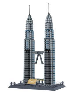 Детский конструктор Tongde «Башни Петронас Куала-Лумпур, Малайзия» 840584R / 1160 деталей