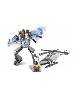 Детский блочный конструктор-трансформер 2в1 «Кибер Герои» 258 деталей / T280-D2298