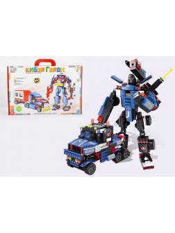 Детский блочный конструктор-трансформер 2в1 «Кибер Герои» 650 деталей / T201-D2285