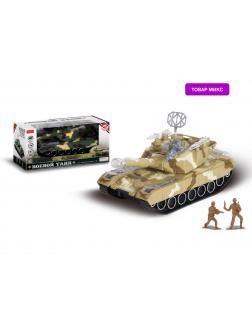 Боевой танк Zhorya со звуковыми и световыми эффектами на батарейках с солдатиками ZYA-A1477-1 / микс