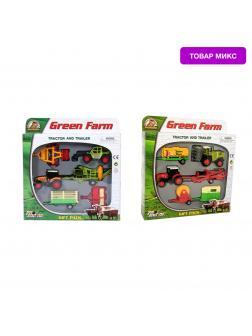 Набор металлических машинок Green Farm «Фермер» 416PT/ Микс