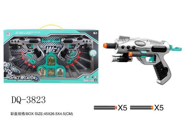 Игровой набор Junfa 2 космобластера, мишень и 10 мягких пуль