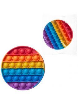 Игрушка-антистресс Junfa Бесконечные радужные шарики-пупырки в форме круга