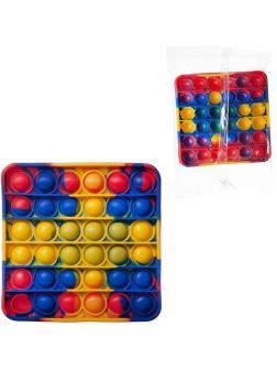 Игрушка-антистресс Junfa Бесконечные мраморные шарики-пупырки в форме квадрата