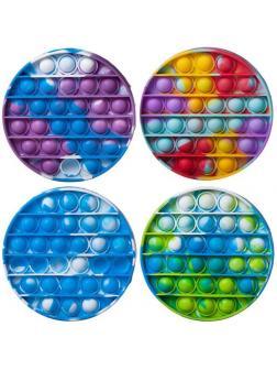Игрушка-антистресс Junfa Бесконечные мраморные шарики-пупырки в форме круга