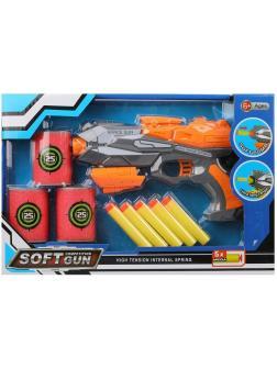 Игр.набор Стрелок, в комплекте: бластер, м/пули 5шт., мишень 3шт., коробка, в ассортименте