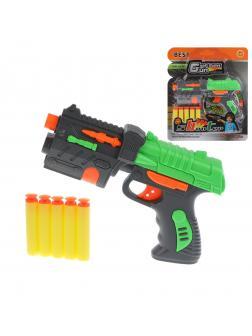 Бластер с мягкими пулями, в комплекте: м/пули 5шт.