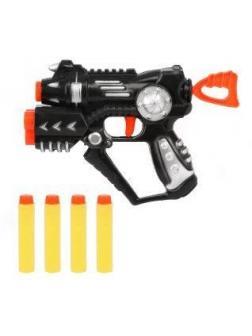 Бластер с держателем для 2-х пуль, в комплекте: м/пули 4шт.