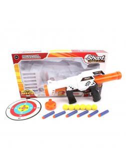 Игр.набор Стрелок, в комплекте: бластер, м/пули 12шт., предметов 2шт., коробка