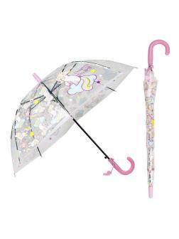 Зонт детский Единороги с прозрачным куполом 50 см