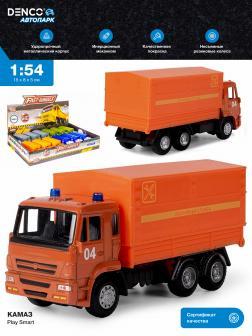 Машинка металлическая Play Smart 1:54 «Камаз 65115: Аварийная служба» 6513-C Автопарк / Оранжевый