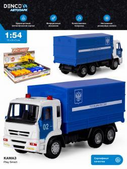 Машинка металлическая Play Smart 1:54 «Камаз 65115: Полиция» 6513-D Автопарк / Синий