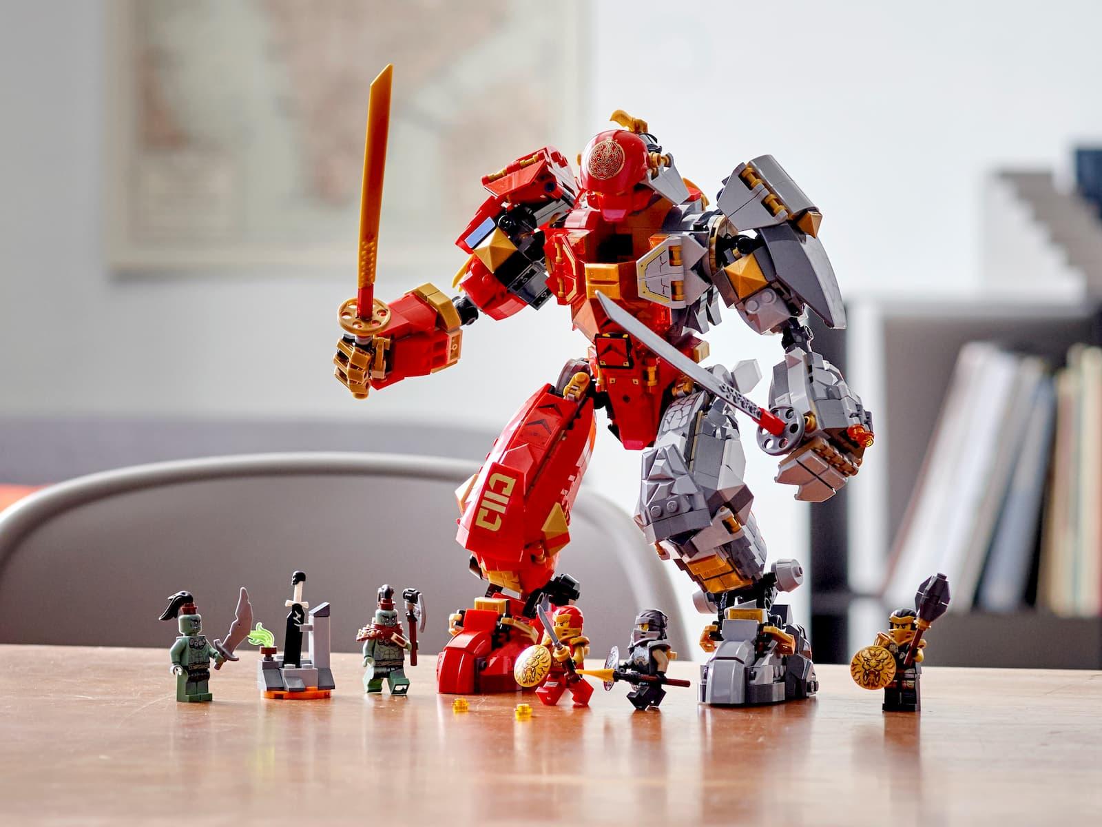 Конструкт Lari «Каменный робот огня» 11555 (НиндзяГо 71720) / 998 деталей