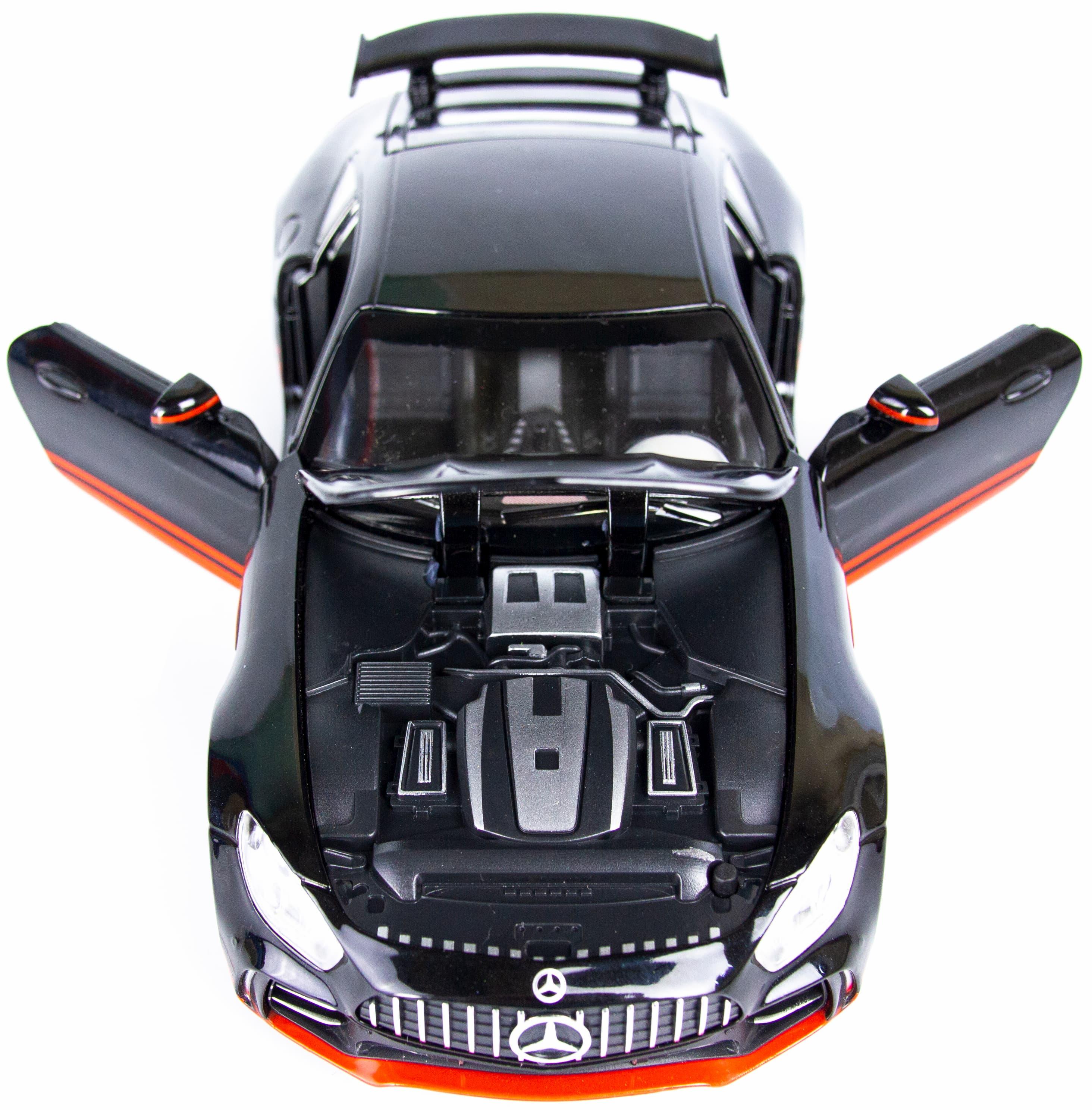 Металлическая машинка Che Zhi 1:24 «Mercedes AMG GT» 121A, 20 см. инерционная, свет, звук